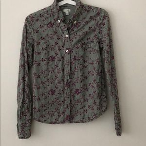 Anthropologie Odille Floral  Button Down